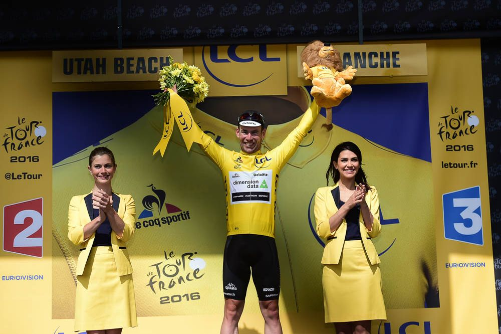 Tour de France 2016 - 02/07/2016 - Etape 1 - Mont-Saint-Michel / Utah Beach Sainte-Marie-Du-Mont (188km) - Maillot Jaune, CAVENDISH Mark (TEAM DIMENSION DATA)